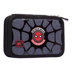 """Пенал твердий YES подвійний HP-01  """"Marvel.Spider-Man"""", сірий"""
