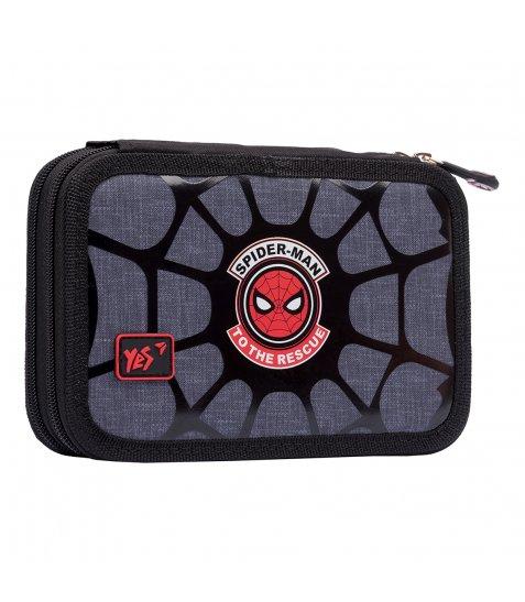 """Пенал твердий YES подвійний HP-01  """"Marvel.Spider-Man"""", сірий - фото 1 з 3"""