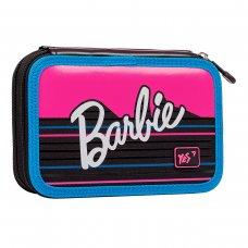 """Пенал твердий YES подвійний HP-01  """"Barbie"""", чорний/малиновий"""