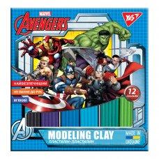 """Пластилін YES """"Marvel.Avengers"""", 12 кол., 240г, Україна"""