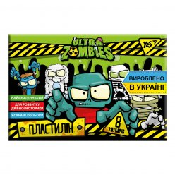 "Пластилін YES ""Zombie"", 8 кол, 160г, Україна"