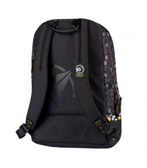 """Рюкзак шкільний YES S-79 """"Smiley World.Black&Yellow"""""""