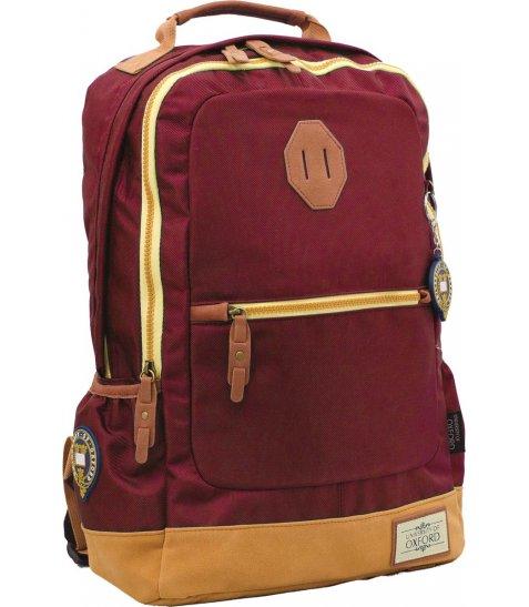 """Рюкзак для підлітків YES  Х253 """"Oxford"""", бордовий, 30*15*45см"""