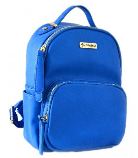 Сумка-рюкзак  YES, синій, 17*9*25см