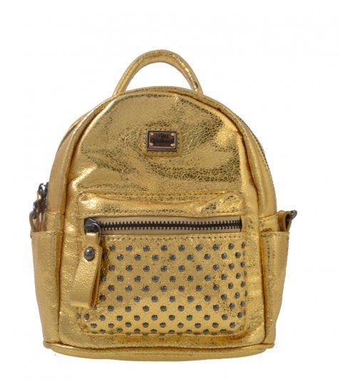 Сумка-рюкзак, золота, 17*20*8см - фото 2 з 2