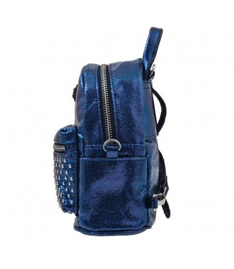 Сумка-рюкзак, синя, 17*20*8см