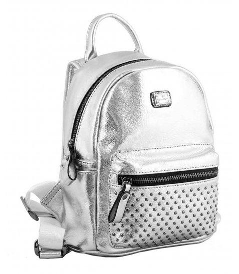 Сумка-рюкзак, срібло, 19.5*25*11см