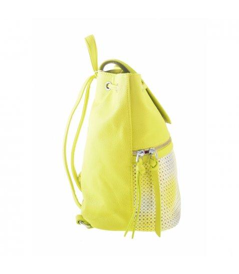 Сумка-рюкзак YES, желто-білий, 29*25*17