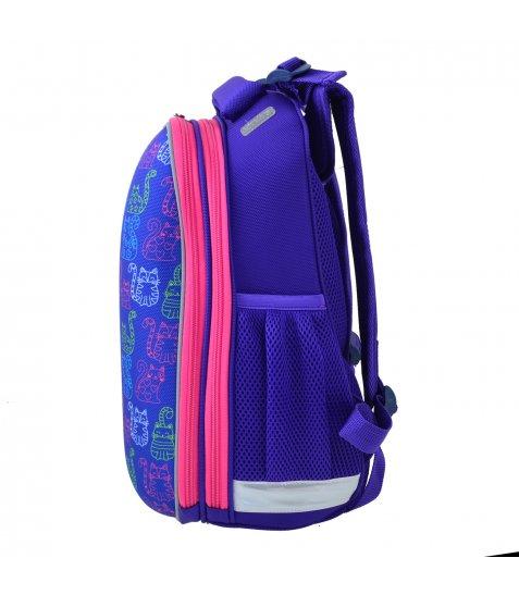 Рюкзак шкільний каркасний  YES  H-12-1 Kotomaniya blue, 38*29*15