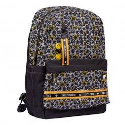 """Рюкзак шкільний YES TS-56 """"Smiley World.Black&Yellow"""""""