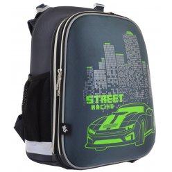 """Рюкзак шкільний  каркасний YES H-12 """"Street Racing"""""""