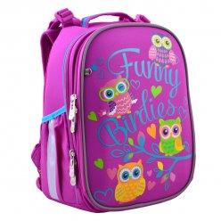 """Рюкзак шкільний  каркасний YES H-25 """"Funny Birdies"""""""