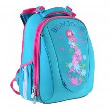 """Рюкзак шкільний  каркасний YES H-28 """"Bonjour"""""""