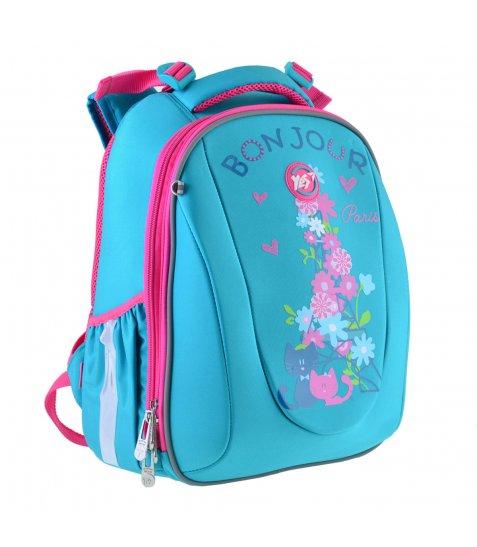 """Рюкзак шкільний  каркасний YES H-28 """"Bonjour"""" 557734"""