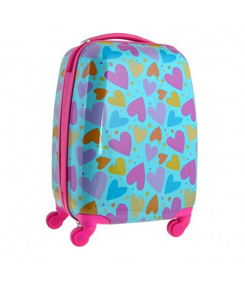 Валіза  дитяча YES на колесах Lovely hearts, LG-4