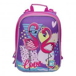 """Рюкзак шкільний каркасний YES H -12  """"Flamingo"""""""