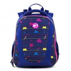 """Рюкзак шкільний каркасний YES H-28  """"Cats"""""""