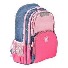 """Рюкзак шкільний YES S-30 Juno  """"Girls style"""" рожевий/блакитний"""