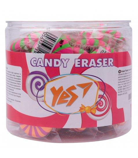 """Ластик  круглий YES """"Candy"""", 2 кол./уп. - фото 2 з 2"""