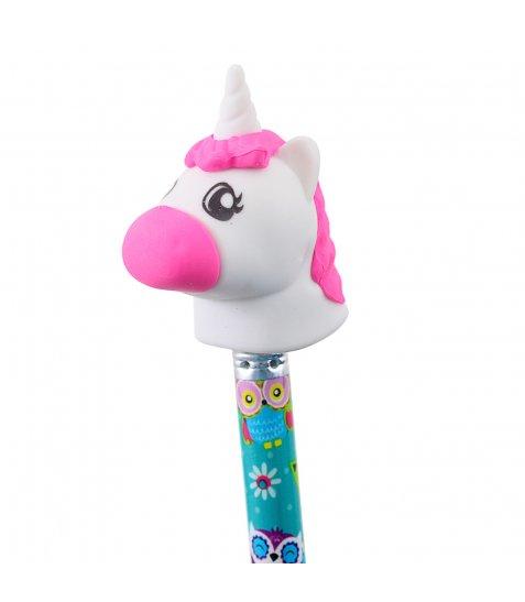 """Ластик-насадка на олівець YES """"Unicorn"""" 3 кол./уп."""