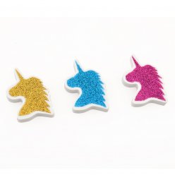 """Ластик YES фігурний з глітером """"Unicorn"""", 3 кол./уп."""