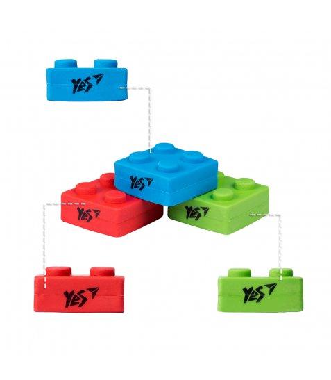 """Ластик фігурний YES """"Blocks"""", 3 кол./уп."""