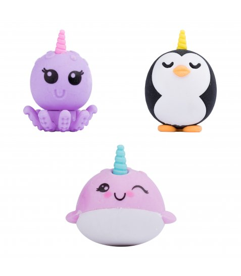 "Гумки YES  ""Sea unicorns"", набір 3шт"