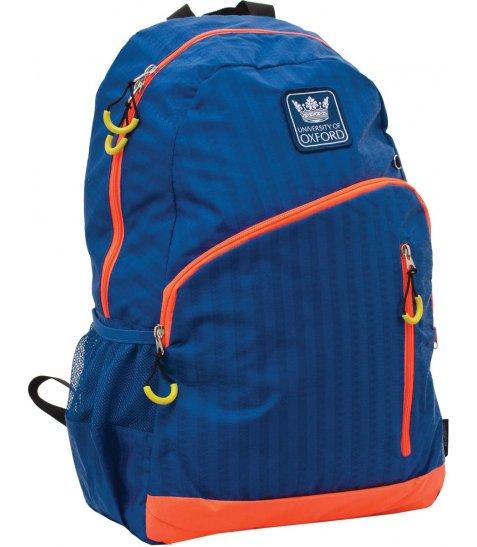 """Рюкзак для підлітків YES  Х229 """"Oxford"""", синьо-помаранчовий, 30.5*16.5*47см"""