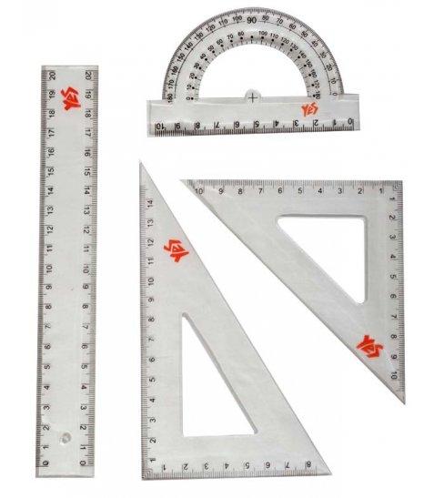 Набір лінійок YES (4 предм.), лінійка 20 см