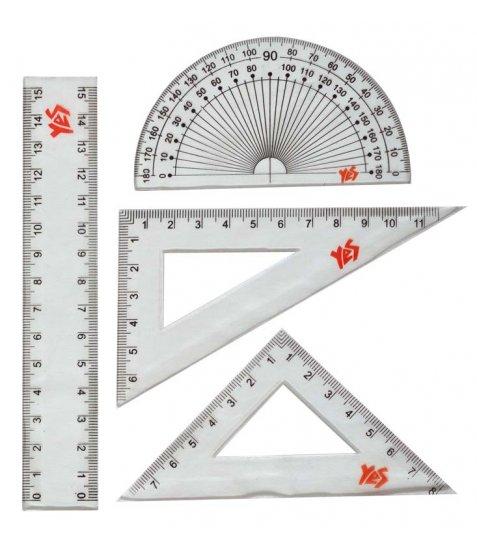 Набір лінійок YES (4 предм.), лінійка 15 см - фото 2 з 2