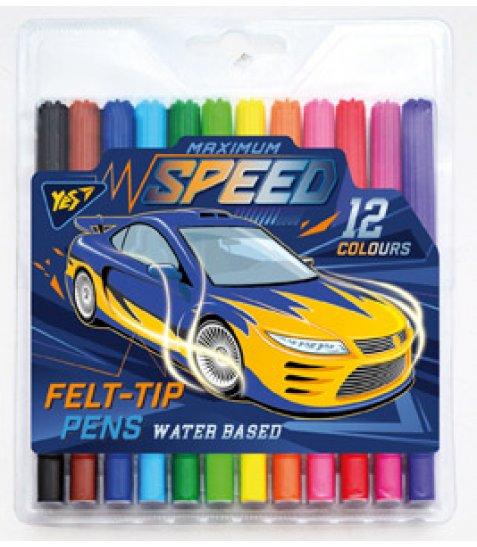 "Фломастери 12 кол. ""Speed car"""