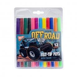 """Фломастери  YES 12 кольорів """"Of Road"""""""