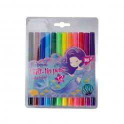 """Фломастери  YES 12 кольорів """"Mermaid"""""""