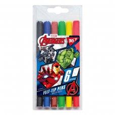 """Фломастери  YES 6 кольорів """"Marvel"""""""