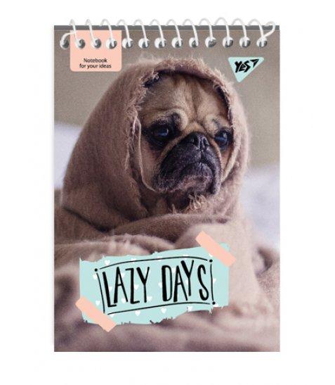 """Зошит для записів А7/80 од.спіраль """"LAZY DAYS"""" YES"""
