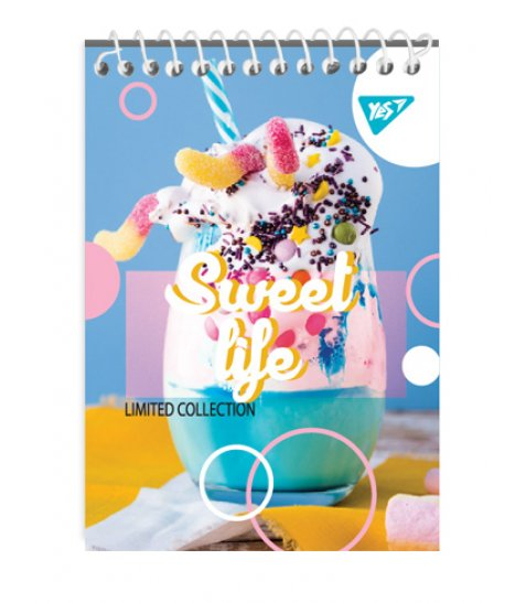 """Зошит для записів А7/80 од.спіраль """"SWEET LIFE"""" YES"""