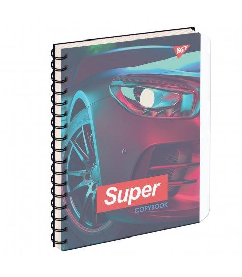 зошит для записів А5/144 пл.обкл. SUPER CAR YES
