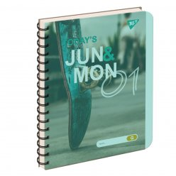зошит для записів А5/144 пл.обкл. JUN&MON YES