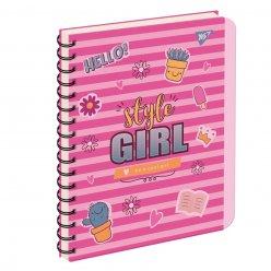 зошит для записів А5/144 пл.обкл. STYLE GIRL YES