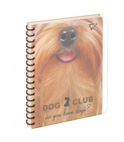 зошит для записів А5/144 пл.обкл. PETS  CLUB YES