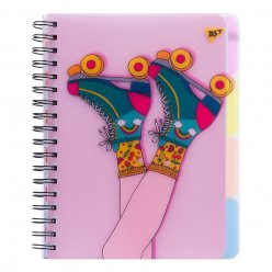 Зошит B5 100 Кл. YES Пл.Обкл. Pink Rollers