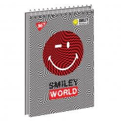 "Зошит для записів А6/80 од.спіраль, ""SMILEY_WORLD"" YES"