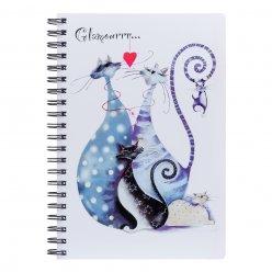 Зошит для записів А4/120 пл.обкл. Glamour cats YES