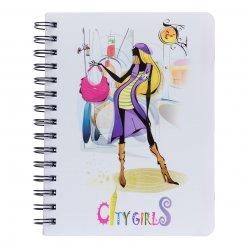 Зошит для записів А5/120 пл.обкл. City girls YES