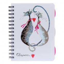 Зошит для записів А5/120 пл.обкл. Glamour cats YES