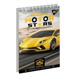 """Зошит для записів А6/80 од.спіраль """"Motor stars"""" YES"""