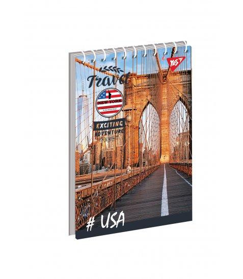"""Зошит для записів А7/80 од.спіраль """"Travel"""" YES"""