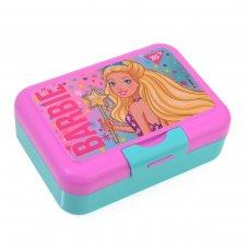 """Контейнер для їжі """"Barbie"""", 450 мл, з ложкою та виделкою YES"""