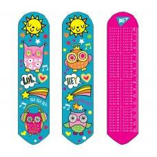 """2D bookmark """"Disco owls"""""""