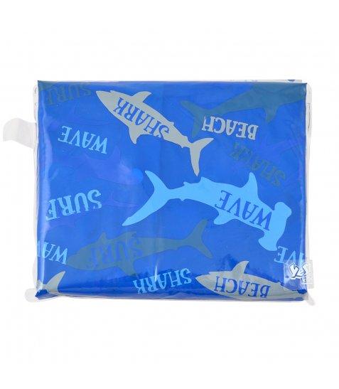 Дощовик-пончо YES зі світловідбиваючим кантом «Акули»